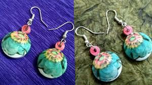 decoupage earrings decoupage jhumkas decoupage tutorial how to make decoupage
