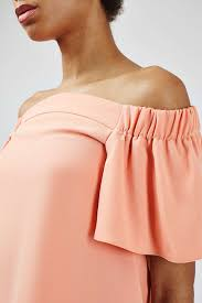 off the shoulder structured bardot top topshop