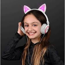 light up cat headphones light up cat ears headphones with custom logo inkhead com