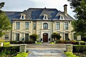 Texas Chateau Home Decor French Roof Lines Contemporary Luxury Mansion French Style