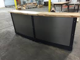Industrial Reception Desk by Image Gallery Industrial Reception Desk