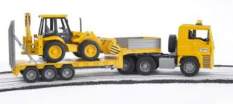 buy bruder 2776 man tga low loader truck with jcb 4cx backhoe