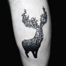 70 antler tattoo designs for men cool branched horn ink ideas