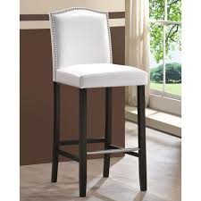 White Faux Leather Chair Baxton Studio Libra White Faux Leather Upholstered 2 Piece Bar