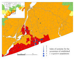 Lyme Disease Map Risk Maps For Range Expansion Of The Lyme Disease Vector Ixodes