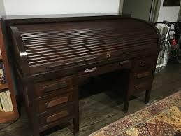 Value Of Antique Roll Top Desk Vintage Mahogany Roll Top Desk For Sale Antiques Com Classifieds