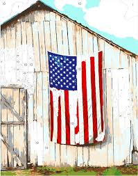 Country American Flag Country Living Kit American Flag U0026 Barn Easy 123 Art