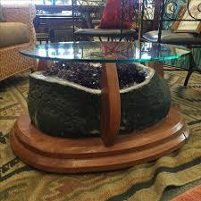 Crystal Coffee Table by Amethyst Crystal Geode Coffee Table Chairish