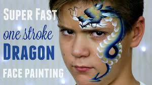 one stroke chinese dragon fast easy face painting tutorial you