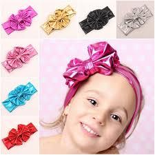 baby bows and headbands 2015 baby girl big bows headband bronzing bowknot headbands for