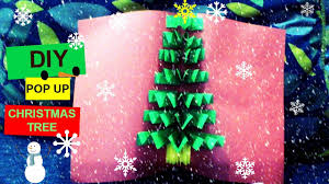 diy 3d pop up tree card shorter version easy and
