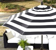 Striped Patio Umbrella Wonderful Black And White Striped Patio Umbrella Garden