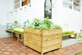 Flower Pot Arrangements For The Patio Corner Bench And Flowers Add Charm To Patio