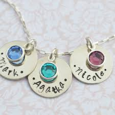 children s birthstone necklace birthstone necklace personalized sted necklace