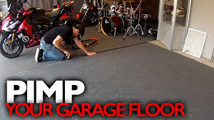 Gym Flooring For Garage by Customize Your Garage Floor For Around 100 Youtube