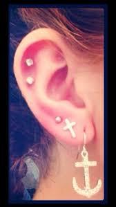 diamond helix stud jewels stud earrings cartilage cross earring anchor earrings