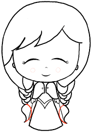 draw chibi baby anna frozen easy steps