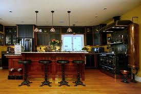 Modern Victorian Kitchen Design Steampunk Bar Stools In Modern Victorian Kitchen Of Craftsman