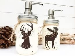 Moose Themed Home Decor by Choose 1 Mason Jar Soap Dispenser Rustic Decor Deer Moose