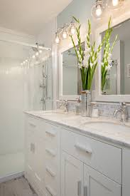 Beautiful Light Match Bathroom Pictures Home Decorating Ideas - Mix match bathroom vanity light shades