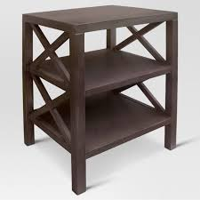 end table with shelves owings end table with 2 shelves threshold target