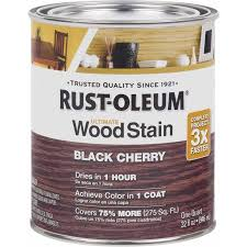 rust oleum ultimate wood stain quart black cherry walmart com