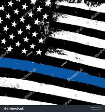 Blue White And Black Flag Thin Blue Line Black Flag Police Stock Illustration 689580685