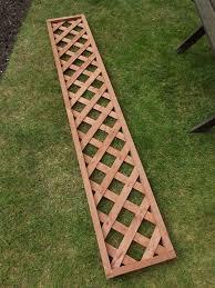 garden trellis framed lattice pattern 6ft x 1ft 183cm x 30cm