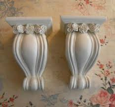Curtain Rod Sconce Pair Of Pretty Curtain Rod Sconces With Ornate Leaves And Tassels