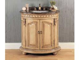 Antique White Vanity Set Lovely Antique White Bathroom Vanity Set With Curved Cabinet Doors