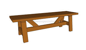 3 wooden bench plans howtospecialist how to build step by step