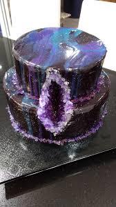 mirror glaze cake fire bugz giveaways u2014 galaxy mirror glaze geode cake for my 18th
