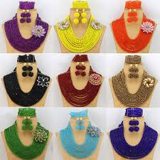 wholesale beaded necklace images Fashion african beads jewelry sets 2017 best selling nigerian jpg
