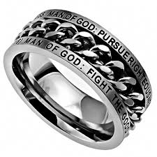 man steel rings images Man of god quot chain ring cornerstone jewelry jpg