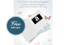 free gifts for wedding registry free 20 gift card with wedding registry free gift cards