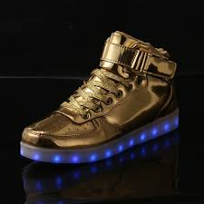 gold light up sneakers aliexpress com buy new style led light shoes usb charge gold and