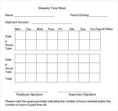 bi weekly timesheet template the best letter sample