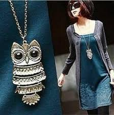 long necklace fashion jewelry images F u top sale owl fashion jewelry korean style retro metal owl jpg