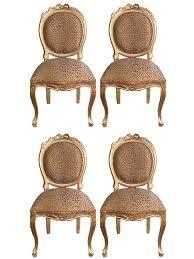 chaise dor e 4 chaises style louis xvi en acajou doré à la feuille d or meuble de