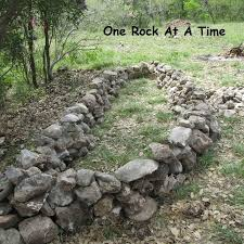 Garden With Rocks Rock Wall Raised Garden Bed Part 1