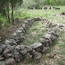 Rock Garden Wall Rock Wall Raised Garden Bed Part 1