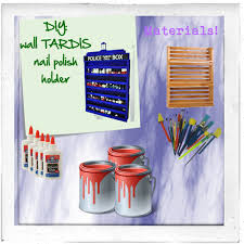 diy tardis nail polish holder or wall decor polyvore