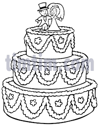 wedding cake drawing free drawing of a big wedding cake bw from the category church
