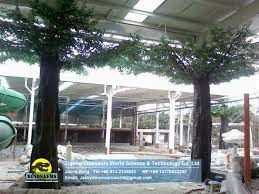 indoor artificial green banyan deluxe ficus tree big locust
