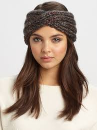 knitted headbands women s gray lula tweed knit headband knitted headband