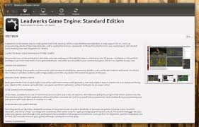 leadwerks game engine available in ubuntu software center native