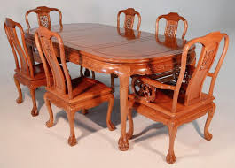 chair vintage mother of pearl inlay chinese dining table six