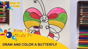 how to color a butterfly how to draw a butterfly on a flower