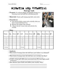 kinetic and potential energy lab mad scientist pinterest