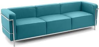canapé lc3 canapé design 3 places simili turquoise inspiré lc3 le corbustier